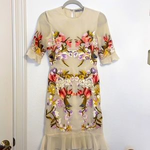 Hope and ivy dress embroidered floral mini dress.